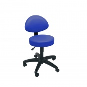 Sunflower Medical Mid Blue Gas-Lift Stool with Back Rest