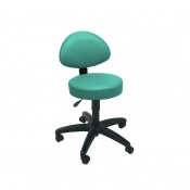 Sunflower Medical Mint Gas-Lift Stool with Back Rest