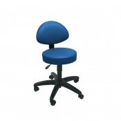 Sunflower Medical Navy Gas-Lift Stool with Back Rest