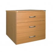 Sunflower Medical Beech Three-Drawer Chest