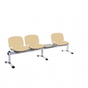 Sunflower Medical Beige Intervene Venus Visitor 4 Section Seating with Table and Three Seats