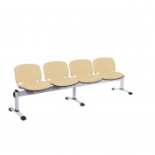 Sunflower Medical Beige Intervene Venus Visitor 4 Section Seating with Four Seats