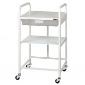Sunflower Medical Vista 10 Economy Trolley with One Clear Tray and One Shelf