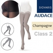 Sigvaris Audace Thigh Class 2 Champagne Compression Stockings