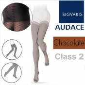 Sigvaris Audace Thigh Class 2 Chocolate Compression Stockings