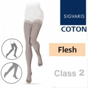 Sigvaris Coton Thigh Class 2 Flesh Compression Stockings