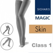 Sigvaris Magic Class 1 Skin Thigh High Compression Stockings with Knobbed Grip Top