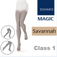 Sigvaris Magic Class 1 Thigh High Closed Toe Compression Stockings - Savannah
