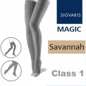 Sigvaris Magic Class 1 Thigh High Open Toe Compression Stockings - Savannah