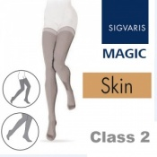 Sigvaris Magic Class 2 Thigh Closed Toe Compression Stockings - Skin