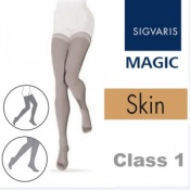 Sigvaris Magic Class 1 Thigh High Closed Toe Compression Stockings - Skin