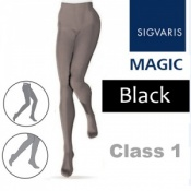 Sigvaris Magic Class 1 Closed Toe Compression Tights - Black