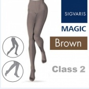 Sigvaris Magic Class 2 Closed Toe Compression Tights - Brown