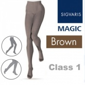 Sigvaris Magic Class 1 Closed Toe Compression Tights - Brown