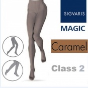 Sigvaris Magic Class 2 Closed Toe Compression Tights - Caramel