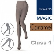 Sigvaris Magic Class 1 Closed Toe Compression Tights - Caramel