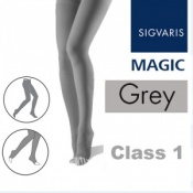 Sigvaris Magic Class 1 Open Toe Compression Tights - Grey