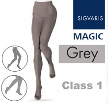 Sigvaris Magic Class 1 Closed Toe Compression Tights - Grey