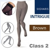 Sigvaris Intrigue Thigh Class 2 Brown Compression Stockings