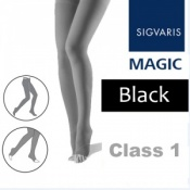 Sigvaris Magic Class 1 Open Toe Compression Tights - Black