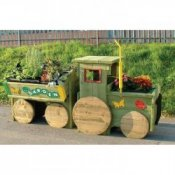 Garden Tractor Flower Bed Planter Trough