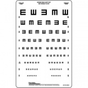 Translucent  Illiterate E 3m Distance Chart