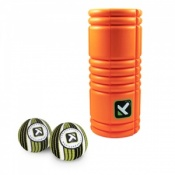 Trigger Point Grid Foam Roller and Double Massage Ball Pack