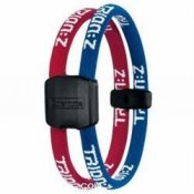 Trion Z Magnetic Sports Bracelet Dual Loop Blue and Red