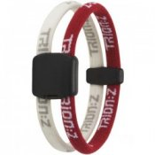 Trion Z Magnetic Sports Bracelet Dual Loop Red and White