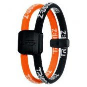 Trion Z Magnetic Sports Bracelet Dual Loop Black and Orange