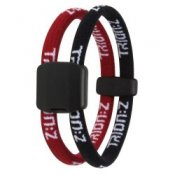 Trion Z Magnetic Sports Bracelet Dual Loop Black and Red