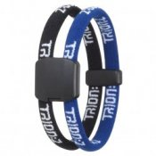 Trion Z Magnetic Sports Bracelet Dual Loop Black and Blue