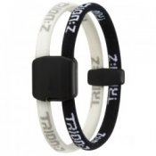 Trion Z Magnetic Sports Bracelet Dual Loop Black and White