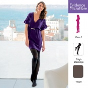 Venactif Evidence Microfibre AFNOR Class 2 Taupe Thigh Compression Stockings