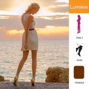 Venactif Lumiere AFNOR Class 2 Chestnut Compression Socks