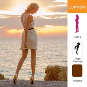 Venactif Lumiere AFNOR Class 2 Chestnut Thigh Compression Stockings