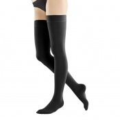 Bauerfeind VenoTrain Soft Class 1 Thigh High Natural Compression Stockings with Silicon Dots
