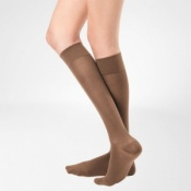 Bauerfeind VenoTrain Micro Class 1 Knee High Caramel Compression Stockings