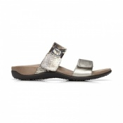Vionic Camila Orthotic Sandals Pewter Natural Snake