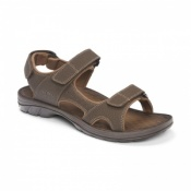 Vionic Mick Orthotic Sandals Brown For Men