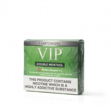 VIP Electronic Cigarette Double Menthol High Strength E-Liquid Cartomisers - Money Off!
