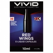 Vivid Red Wings High Strength E-Liquid Refill Capsules