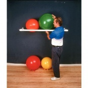 Wall-Mounted PVC Exercise and Therapy Ball Rack