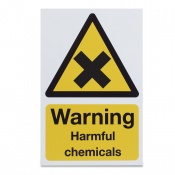 'Warning Harmful Chemicals' Safety Sign