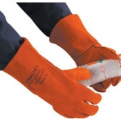 Polyco Weldmaster Heat Resistant Leather Welding Safety Gauntlets (30 Pairs)