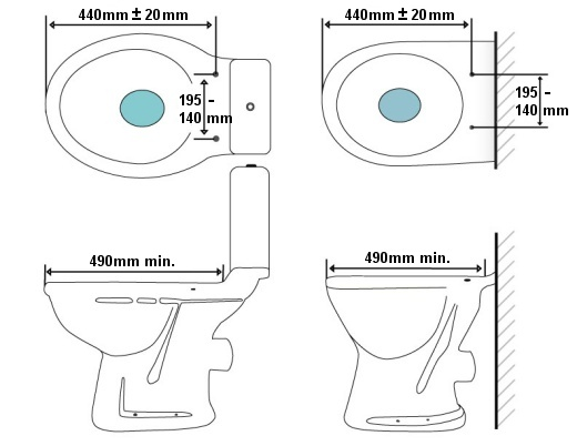 The Bio Bidet BB 800 Is Designed To Fit On Standard Round Oval And D Shape Toilet Pans Diagrams Below Show Size Space It Needs Properly