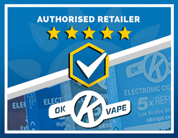We Are an Authorised Retailer of OK Vape Products