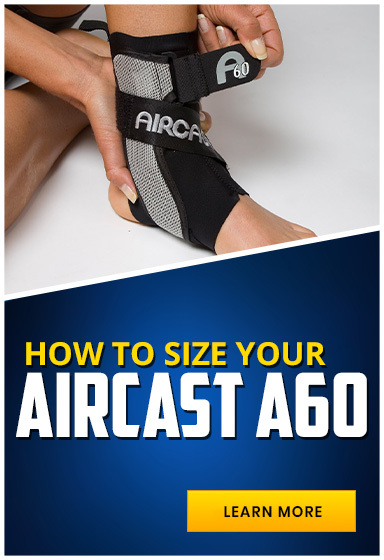 Our Guide to Sizing Your Aircast A60 Ankle Brace