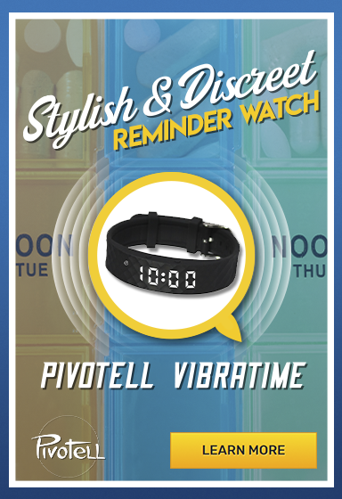 Keep Track of Your Medication in Style with the Vibratime Vibrating Reminder Watch