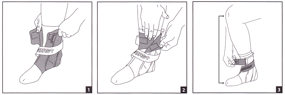 Aircast A60 Ankle Brace Fitting Instructions